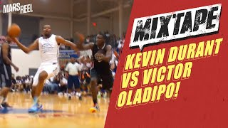 Kevin Durant Battles Victor Oladipo At Goodman League