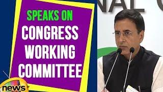 Randeep Surjewala Speaks On Congress Working Committee | Mango News - MANGONEWS
