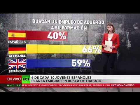 6 de cada 10 jóvenes españoles planea dejar su país en busca de un empleo
