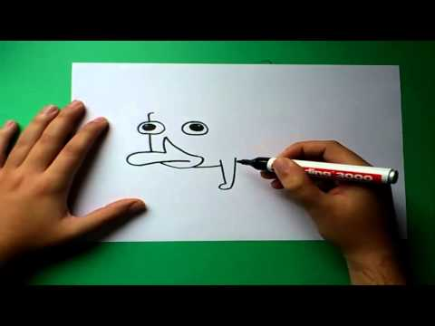 Como dibujar a Perry el ornitorrinco paso a paso - Phineas y Ferb   How to draw Perry the platypus