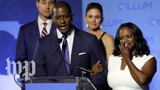 Gillum speaks to media after recount announcement - WASHINGTONPOST