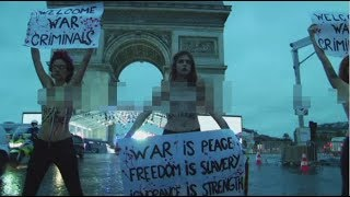 'Welcome war criminals!': Topless FEMEN activists protest in Paris ahead of WWI armistice centenary - RUSSIATODAY