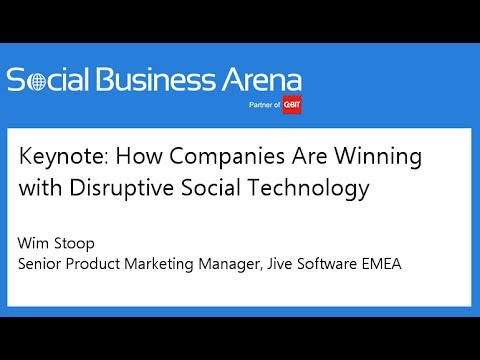 #cebitsba 2014 | Keynote: How Companies Are Winning with Disruptive Social Technology | Wim Stoop