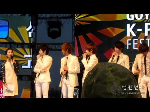 120421 K-POP Festival BOYFRIEND-Talk Part