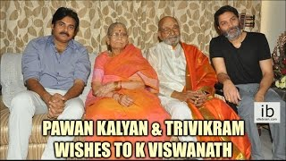 Pawan Kalyan and Trivikram wishes to K Viswanath on Winning Dada Saheb Phalke Award - idlebrain.com - IDLEBRAINLIVE