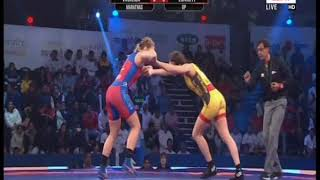 PWL 3 Day 11: Vasilisa Marzaliuk Vs Zsanett Nemeth at Pro Wrestling League 2018 | Highlights - ITVNEWSINDIA