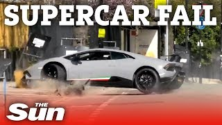 £250,000 Lambo wrecked | London supercar fails - THESUNNEWSPAPER