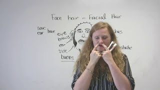 The face and hair, English Vocabulary Video Lesson, engvid