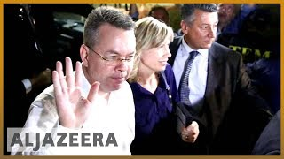 🇺🇸🇹🇷US pastor Andrew Brunson leaves Turkey after release l Al Jazeera English - ALJAZEERAENGLISH