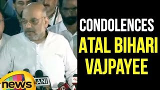 BJP President Amit Shah Pays Condolences To Former PM Atal Bihari Vajpayee | #RipABV | Mango News - MANGONEWS