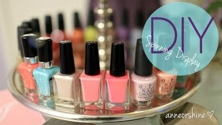 anneorshine – Make Rotating Nail Polish & Jewelry Display EASY How To DIY