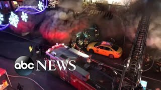 5 alarm fire engulfs city block in Queens - ABCNEWS