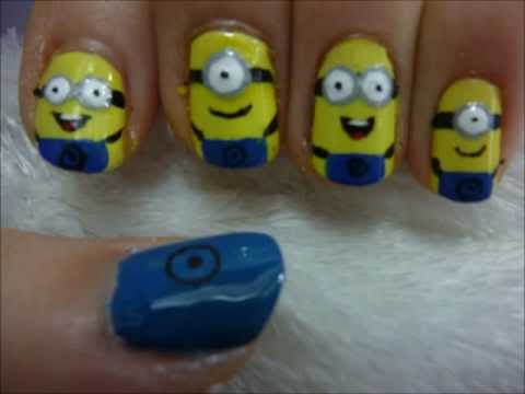 Despicable Me Minion Nail Art