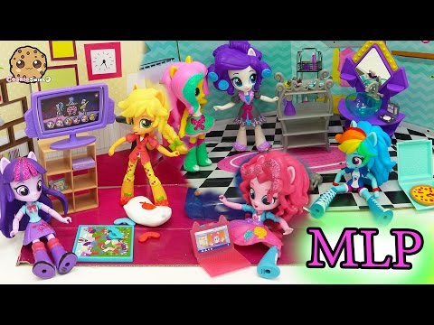 My Little Pony Equestria Girls Mini Dolls Elements of Friendship  + Slumber Party Set