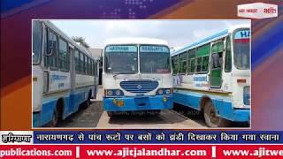video : नारायणगढ़ से पांच रूटों पर बसों को झंडी दिखाकर किया गया रवाना