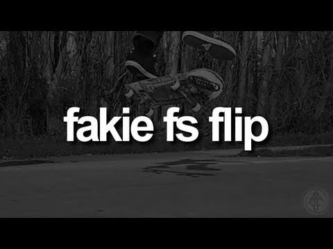 Fakie FS Kickflip: First-Person Skateboarding.