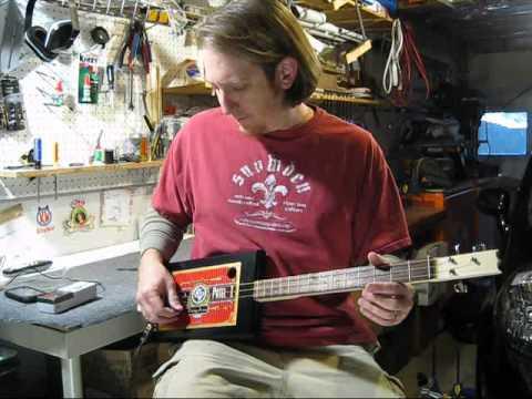 Tune a 3 String Cigar Box Guitar Mike Snowden