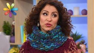 Свяжите теплый и модный шарф-хомут с помощью коробки! – Все буде добре. Выпуск 928 от 8.12.16