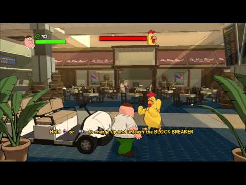 family guy back to the multiverse - chicken fight  -