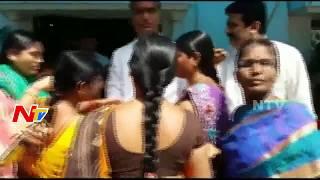 Women Leaders Tie Rakhi to Minister Harish Rao at Minister Quarters || NTV - NTVTELUGUHD