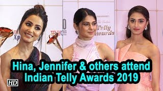 Hina Khan, Jennifer Winget and others attend Indian Telly Awards 2019 - IANSLIVE
