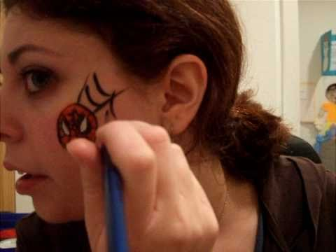 Face Painting Tutorial: Spiderman Cheek Art