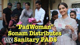 """PadWoman"" Sonam Kapoor Distributes Sanitary PADS - IANSLIVE"