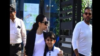 In Graphics: Karishma kapoor with ex husband Sanjay kapur and son kian at dinner date - ABPNEWSTV