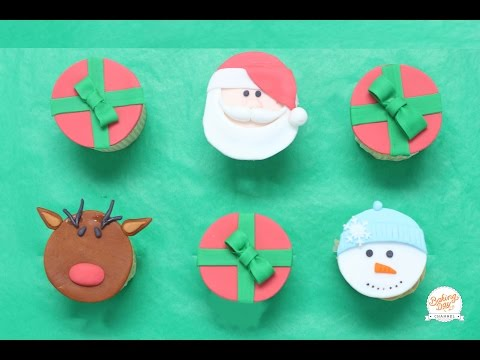 4 IDEAS DE CUPCAKES NAVIDEÑOS (DECORACIÓN) - BAKING DAY