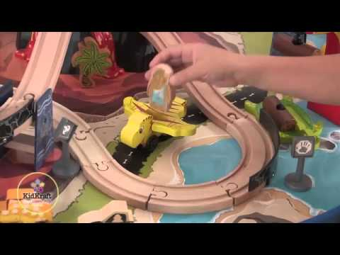 All New KidKraft Dinosaur Train Table Wooden Train Set