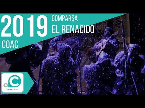 La agrupación El renacido llega al COAC 2019 en la modalidad de Comparsas. En años anteriores (2018) concursaron en el Teatro Falla como El incomprendido, consiguiendo una clasificación en el concurso de Preliminares.