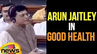 Piyush Goyal Says Arun Jaitley in 'Good Health', will Resume Duties soon | Mango News - MANGONEWS