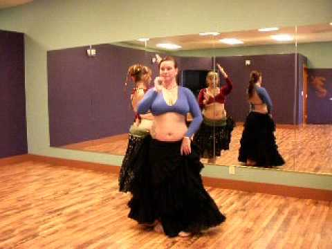Tribal Moon Belly Dance ATS/ITS Drills - Propeller, Corkscrew and Tribal Moon Barrel Turn w/Passes
