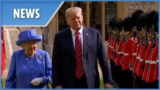Donald Trump meets the Queen for tea - THESUNNEWSPAPER