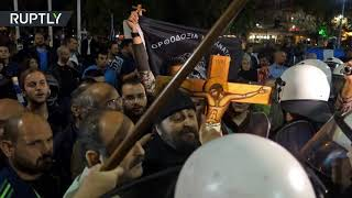 Show mustn't go on!  Greek activists clash with police over 'blasphemous' play - RUSSIATODAY