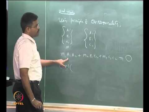 Mod-01 Lec-21 Study of Multi degrees - of - freedom systems