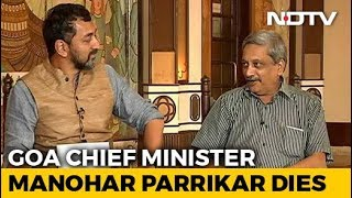 What Manohar Parrikar Told NDTV After Becoming Goa Chief Minister In 2017 - NDTV