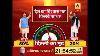 80% of people across 18 cities want Modi government to clear no-confidence motion, ABP New - ABPNEWSTV