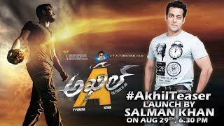 """Salman Khan to Launch Teaser of Akhil Akkineni New Movie """"AKHIL"""""""