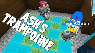 watch the youtube video Minecraft - Attack Of The B Team - Ash's Trampoline!! [28]
