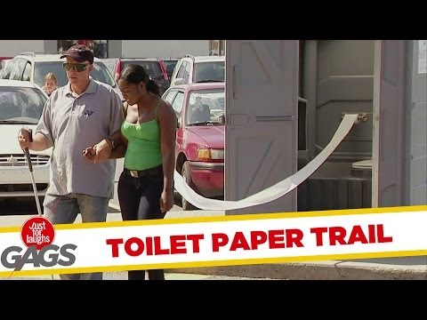 Toilet Paper Trail Prank