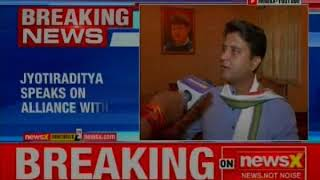 Jyotiraditya Scindia speaks on alliance with BSP, says an alliance with BSP would've been better - NEWSXLIVE