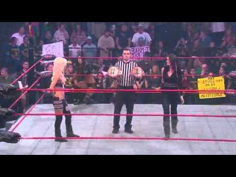 TNA Knockouts: Madison Rayne &amp; Tara vs Winter &amp; Angelina Love [Knockouts Tag Team Championship]