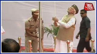 आज़ाद हिन्द सरकार की 75वीं वर्षगांठ पर PM Modi ने लाल किले पर फहराया तिरंगा - AAJTAKTV