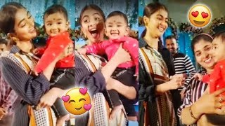 Pooja Hegde Making Fun With Kid | Tollywood Updates - RAJSHRITELUGU