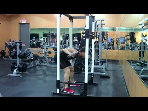 Good Morning Exercise - HASfit Powerlifting Exercise Demonstration - Goodmorning Exercises Hamstring