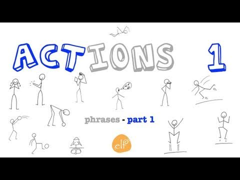Actions Flash Cards - 1 - Vocabulary