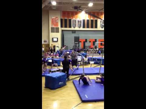 Halle bars inland gymnastics meet