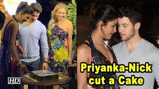 Priyanka-Nick cut a Cake with Priyanka's Vogue US Cover - IANSINDIA