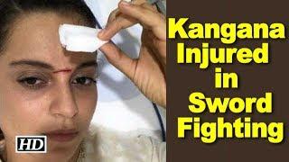 """Kangana Injured on """"Manikarnika"""" set in Sword fighting - IANSINDIA"""
